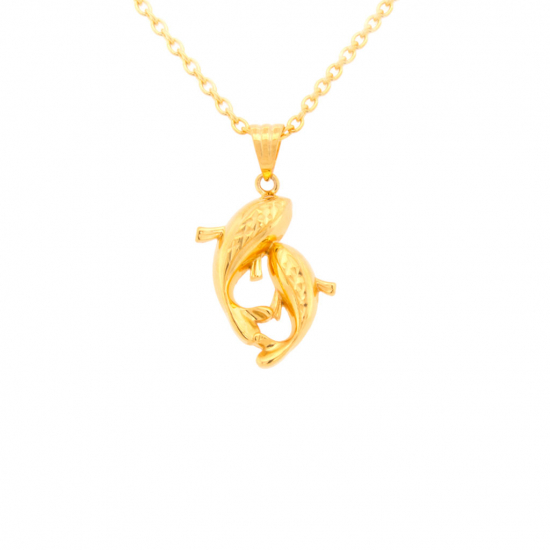 Citigems 916 Golden Koi Pendant