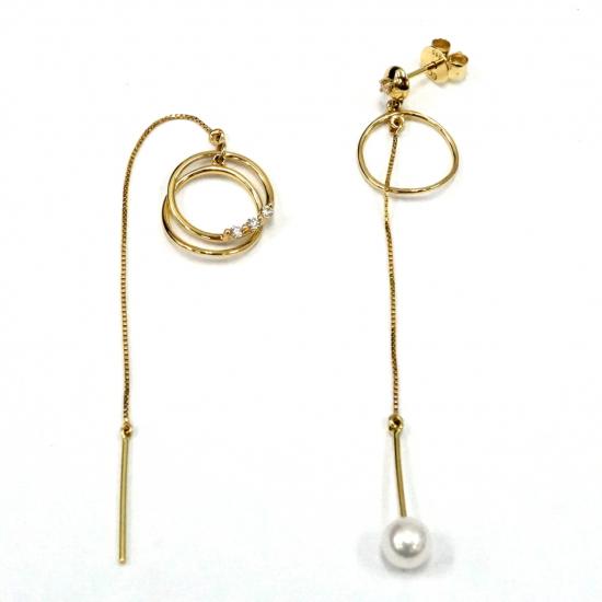 Citigems Yellow Gold Diamond Earrings