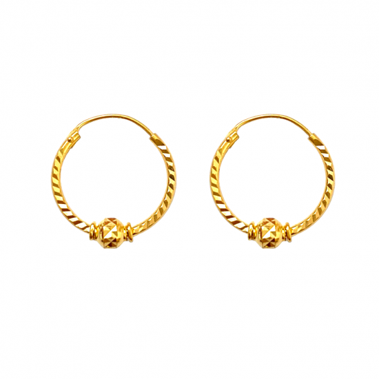 Citigems 916 Alicia Hoop Earrings