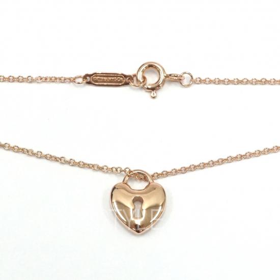 Pre-Loved Tiffany & Co. Heart Lock Keyhole 18k Rose Gold Necklace