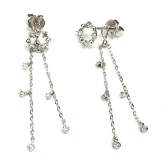 Citigems White Gold Diamond Earrings