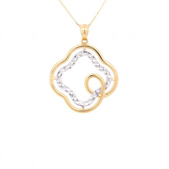 Citigems 916 Gold Fortune Clover Pendant