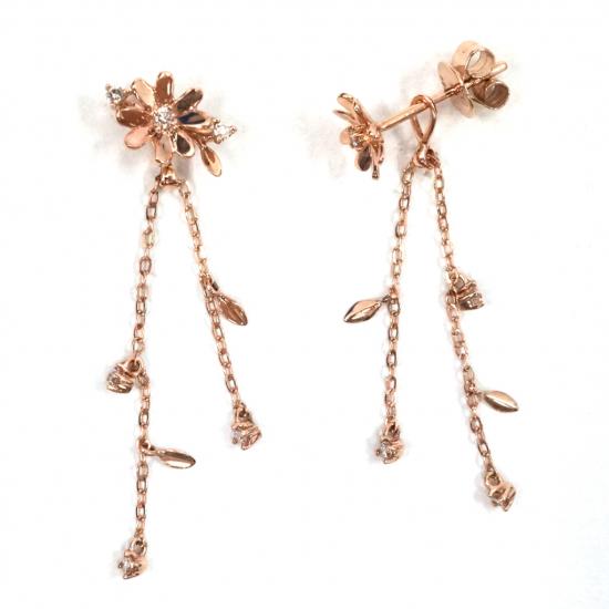 Citigems Rose Gold Diamond Earrings