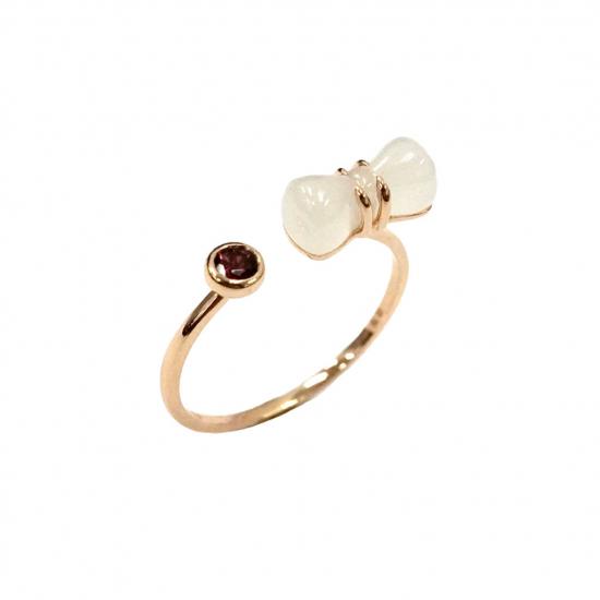 Citigems 18K Rose Gold Nephrite Ring