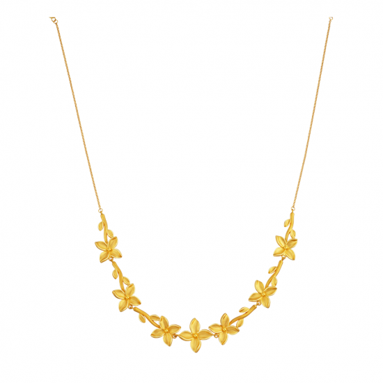 Citigems 999 Gold  Trillium Flower Necklace