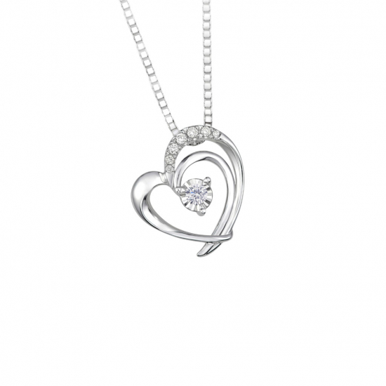 Citigems 10K White Gold Diamond Pendant