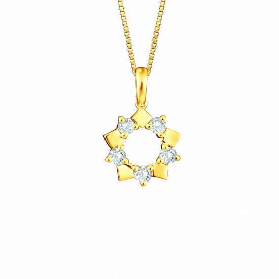 Citigems 18K Yellow Gold Diamond Pendant