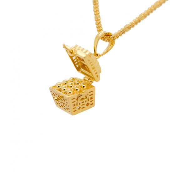 Citigems 916 Treasure Chest Pendant