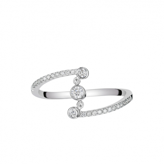Citigems 14K White Gold Diamond Ring
