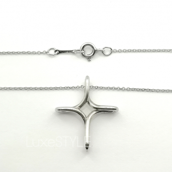 Pre-Loved Tiffany & Co. Infinity Cross Silver Necklace