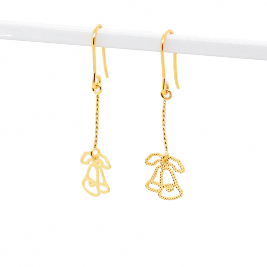 Citigems 916 Christmas Bells Dangling Earrings