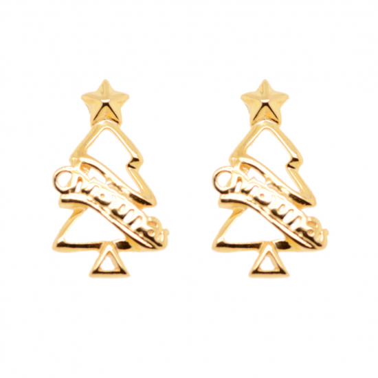 Citigems 916 Christmas Tree Earrings