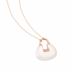 Citigems 18K Rose Gold Nephrite Diamond Necklace