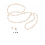 Citigems Pearl Bundle: Necklace + Earrings
