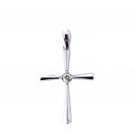Citigems White Gold Classic Cross Pendant