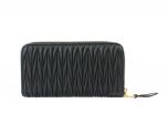 Miu Miu Matelasse Leather Zip Around Wallet (Unused)