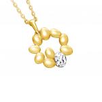 Citigems 916 Gold Golden Wheat Of Crown Pendant