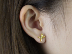 Citigems 999 Pure Gold Criss Cross Earrings