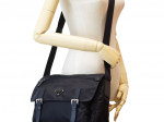 Prada Vela Nylon Black Messenger Bag