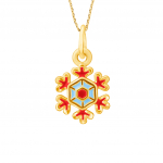 Citigems 999 Gold Christmas Snowflakes Pendant