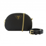 Prada Saffiano Leather Black Belt Bag / Sling Bag