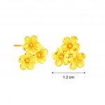 Citigems 999 Pure Gold Daisy Flower Earrings