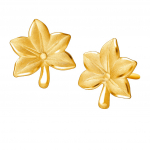 Citigems 999 Pure Gold Acer Maple Leaf Earrings