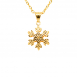 Citigems 916 Golden Snowflake Pendant
