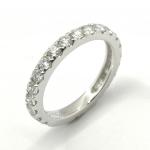 Citigems White Gold Classic Eternity Diamond Ring