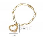 Pre-Loved Tiffany & Co. Peretti Open Heart 18K Yellow Gold Bracelet