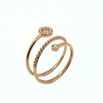 Citigems 18K Rose Gold Diamond Ring