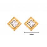 Citigems 916 Square Baroque Earrings