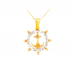 Citigems 916 Gold Anchor Pendant