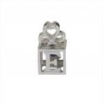 Citigems White Gold Spinning L.O.V.E. Amethyst Diamond Pendant