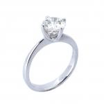 Citigems 18K White Gold Diamond Ring