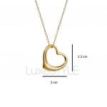 Pre-Loved Tiffany & Co. Elsa Peretti Open Heart 18K Yellow Necklace