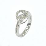Citigems 14K White Gold Tango Dancing Diamond Ring 75156