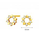 Citigems 18K Gold Diamond Earrings