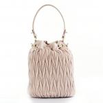 Miu Miu Matelasse Leather Beige / Nude Bucket Bag
