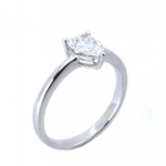 Citigems 18K White Gold Pear Shaped Diamond Ring