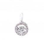 Citigems 14K White Gold Tango Dancing Diamond Pendant 62609