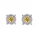 Citigems 18K White Gold Fancy Colour Diamond Earrings 46816