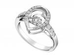 Citigems 10K White Gold Tango Dancing Diamond Ring