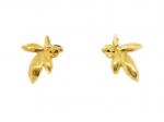 Citigems 999 Pure Gold New Leaf Earrings