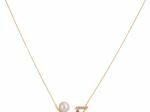 Citigems 18K Yellow Gold Pearl Diamond Necklace