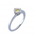 Citigems 18K White Gold Fancy Colour Diamond Ring 49555