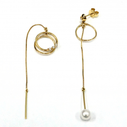 Citigems 14K Yellow Gold Seoul Style Earrings