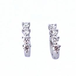 Citigems Classic Eternity Diamond Earrings