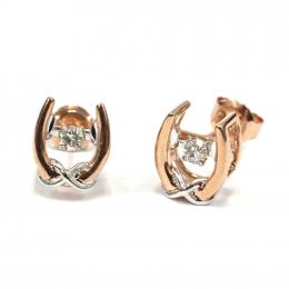 Citigems Rose Gold Tango Diamond Earrings