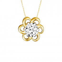 Citigems 916 Gold Cheerful Daisy Pendant